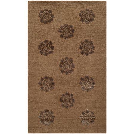 Martha Stewart  by  Medallions Cocoa Silk/ Wool Rug - 2'6