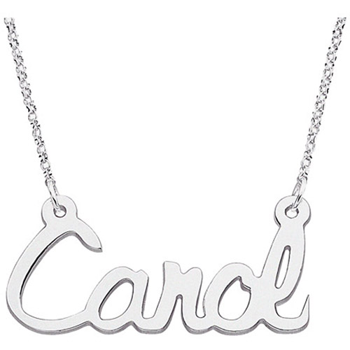 Personalized Script Name Sterling Silver Necklace, 18""