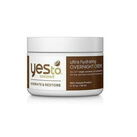 Yes To Coconut Hydrate and Restore Ultra Hydrating Overnight Cream, 1.7 Oz
