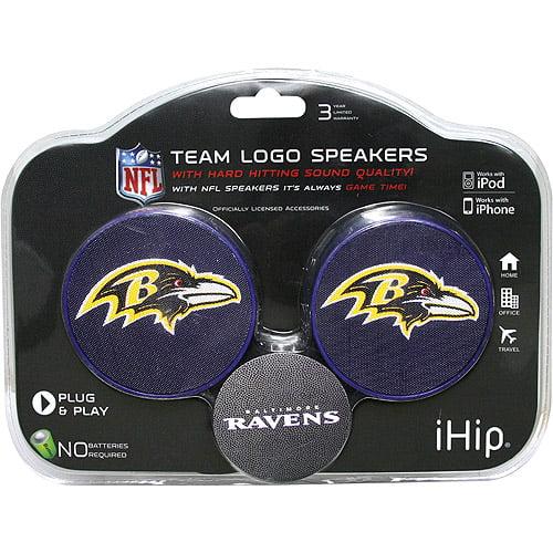 iHip NFL 2-Speaker Set, Baltimore Ravens