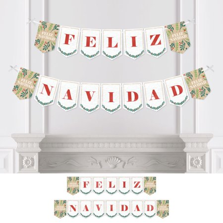 Feliz Navidad - Holiday Spanish Christmas Party Bunting Banner - Party Decorations - Feliz Navidad - Feliz Navidad Decorations
