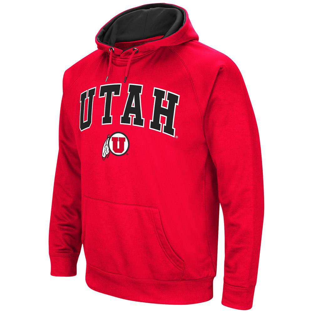 Mens NCAA Utah Utes Fleece Pull-over Hoodie by Colosseum