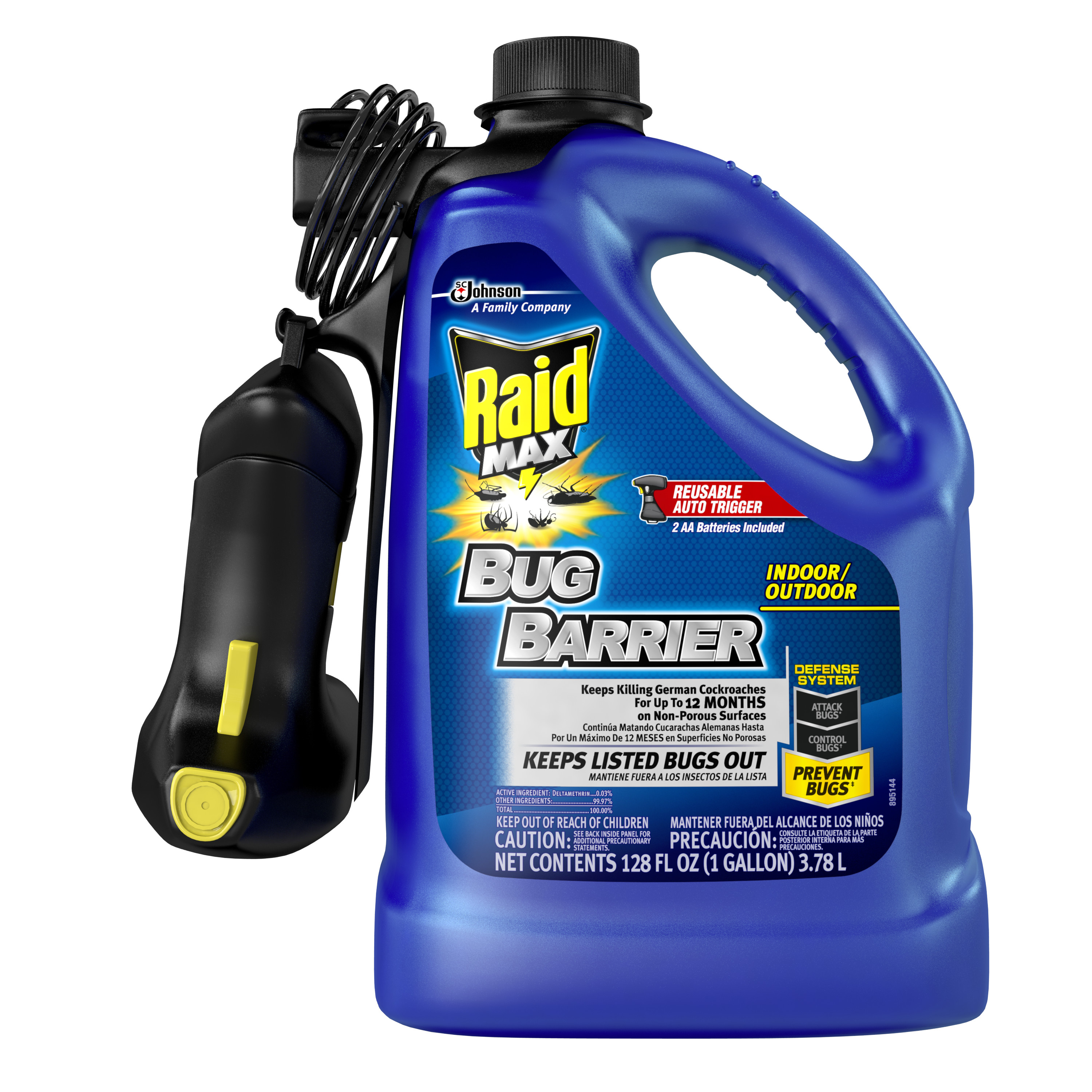 Raid Max Bug Barrier Trigger Starter Kit, 1 Gallon