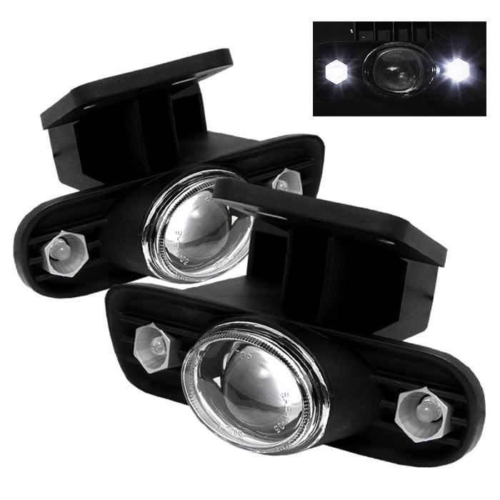 Spyder GMC Sierra 1500/2500 99-02 / Sierra 1500HD/2500HD/3500/C3 01-02 / GMC Yukon 00-06 LED Projector Fog Lights w/Switch - Clear