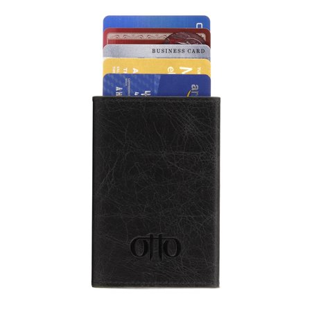Otto Credit Card Holder Wallet Rfid Blocking Genuine Cowhide