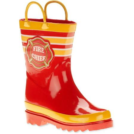 Fire Chief Rain Boots Size 7/8 - Walmart.com