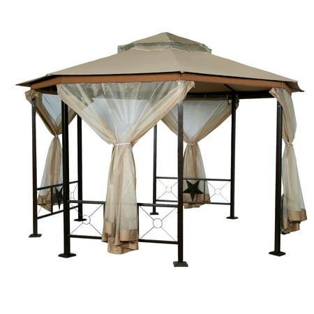 12' x 12' Octagonal Gazebo Canopy With Mosquito Netting, (Octagonal Garden Gazebo)
