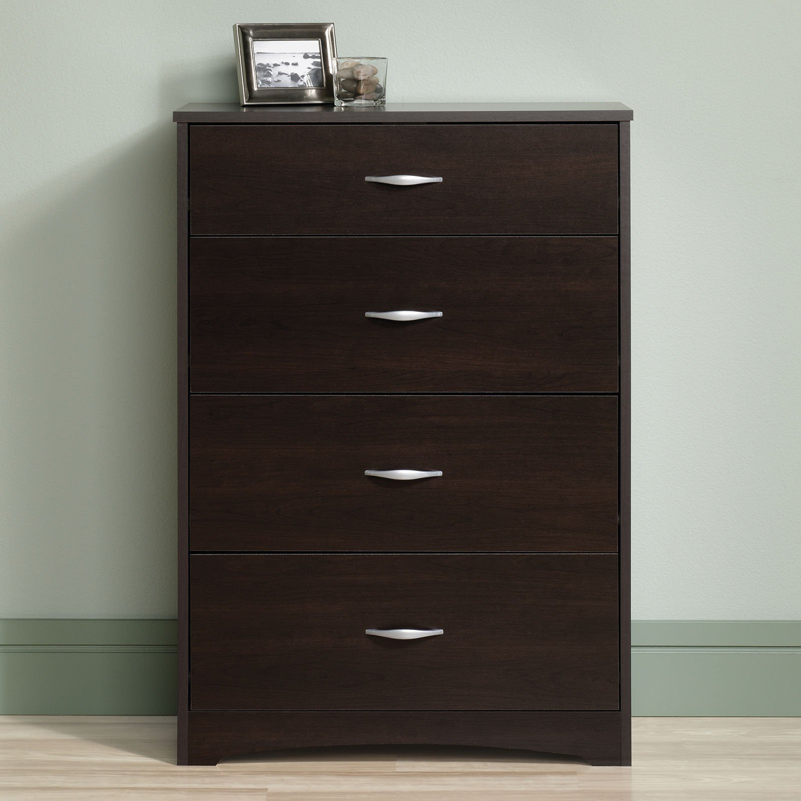 Sauder Beginnings 4-Drawer Dresser, Cinnamon Cherry by Sauder Woodworking