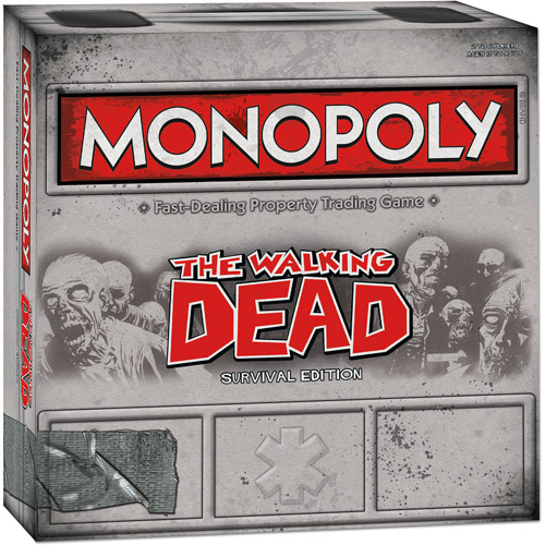 """USAopoly Monopoly: Walking Dead """"Survival Edition"""" Game"""