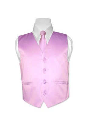 Covona BOY'S Dress Vest & NeckTie Solid LAVENDER Color Neck Tie Set size 10