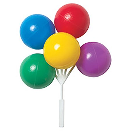 Primary Colors Balloon Cake Topper Cluster - 4 Count (Balloon Cake Topper)