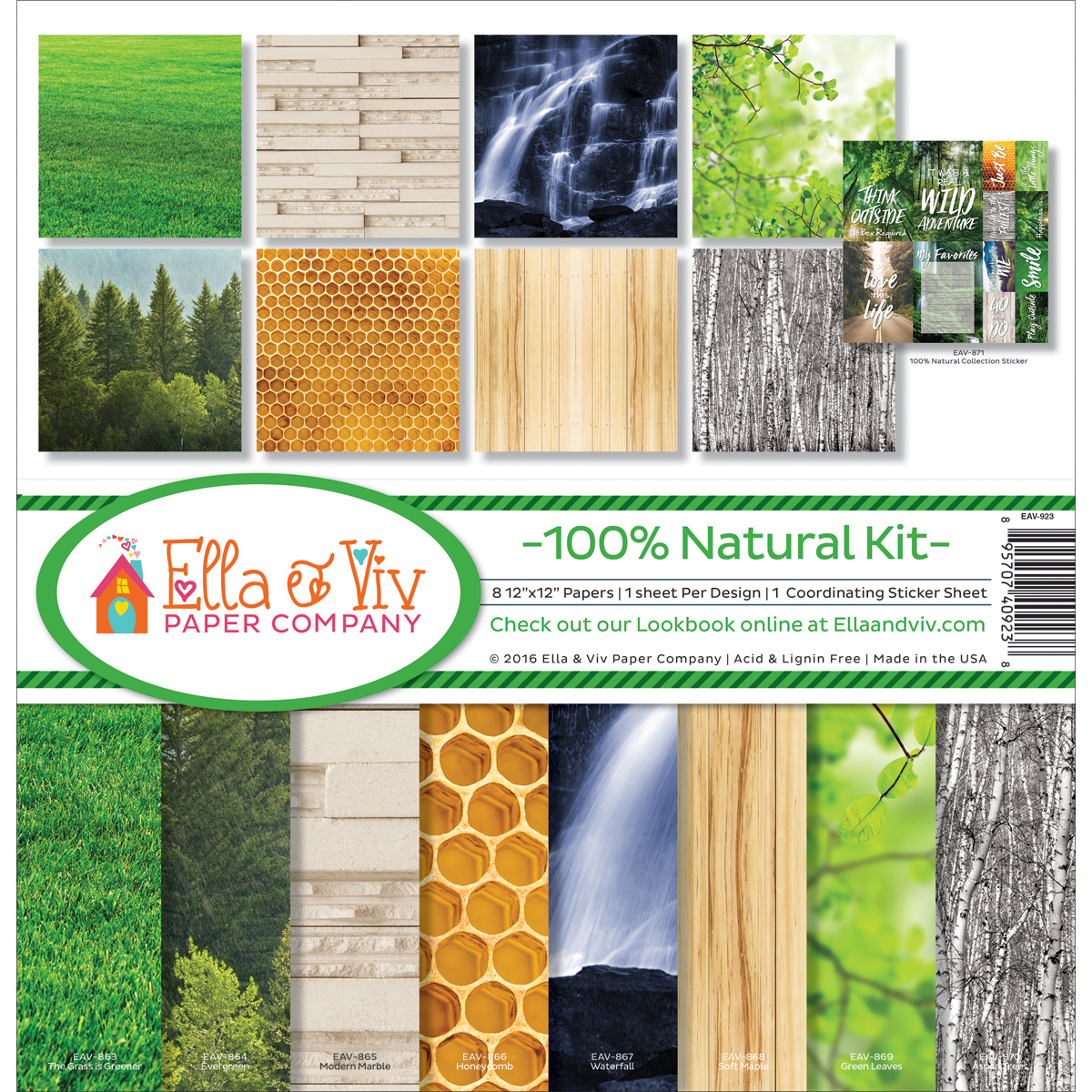 "Ella & Viv Collection Kit, 12"" x 12"", 100 Percent Natural"