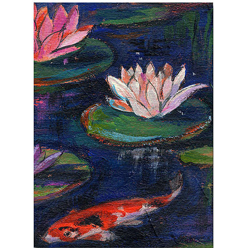"Trademark Art ""The Lily Pod"" Canvas Wall Art by Shelia Golden"