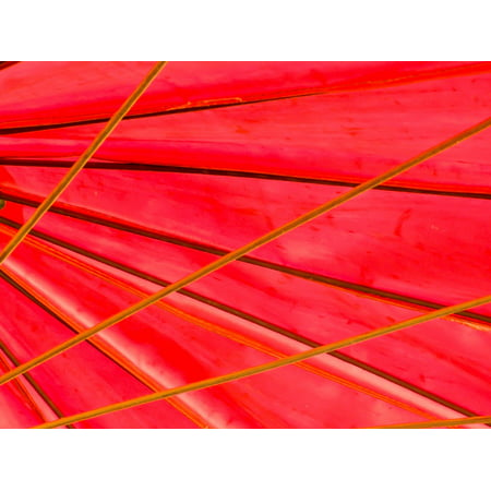 Framed Art for Your Wall Parasol Red Vivid Umbrella Abstract Sunshade 10x13 Frame - Parasols For Sale