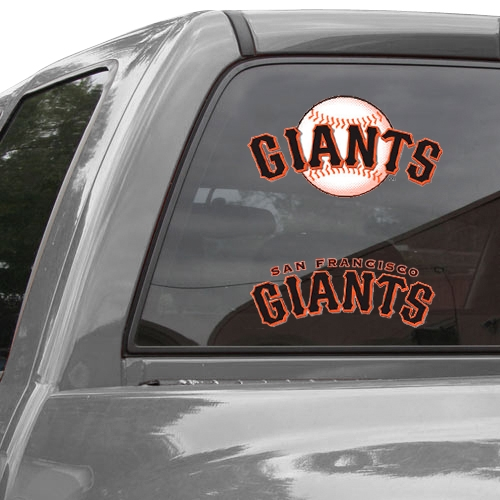 "San Francisco Giants 11"" x 17"" 2-Pack Ultra Decal Sheet - No Size"