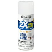 White, Rust-Oleum American Accents 2X Ultra Cover Ultra Matte Spray Paint, 12 oz