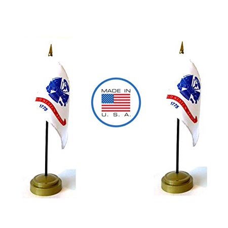 Made in The USA Flag Set. 2 Army Rayon 4
