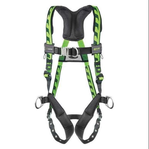 Miller By Honeywell Full Body Harness, Green ACF-TBDUG