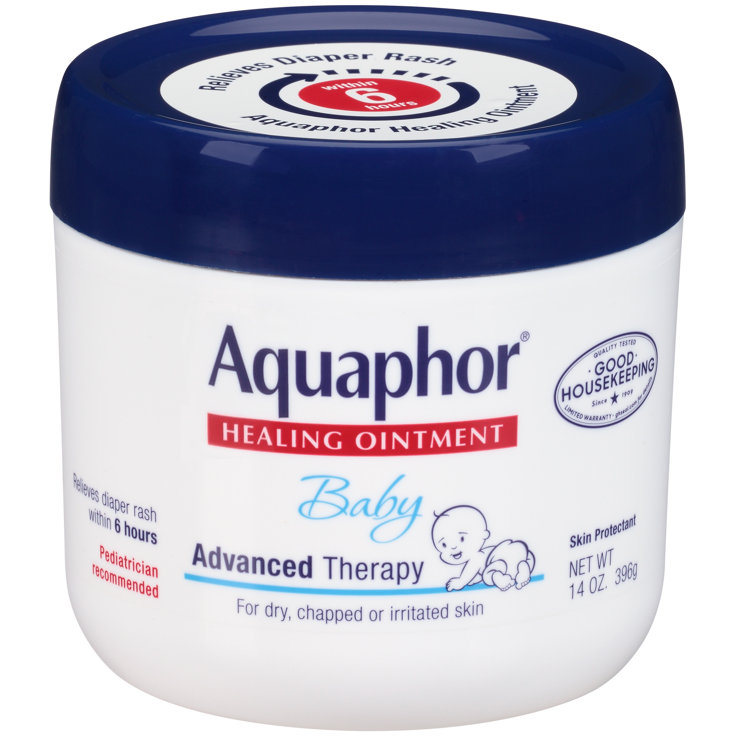 Aquaphor Baby Advanced Therapy Healing Ointment, 14 oz. Jar