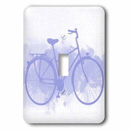 3dRose Blue Bicycle On A Grunge Background, Single Toggle Switch