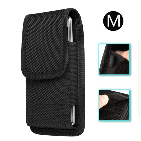 Cell Phone Belt Holster, EEEKit Rugged Nylon Belt Clip Case Cell Phone Carrying Pouch Holder Belt Holster Carrying Sleeve for iPhone Xs Max XR X 8 Plus Samsung Galaxy S10 S10 Plus S9 S9 Plus Cell Phone Battery Belt Clip