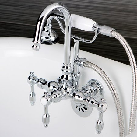 Kingston Brass Tudor Lever Handle Clawfoot Tub Faucet
