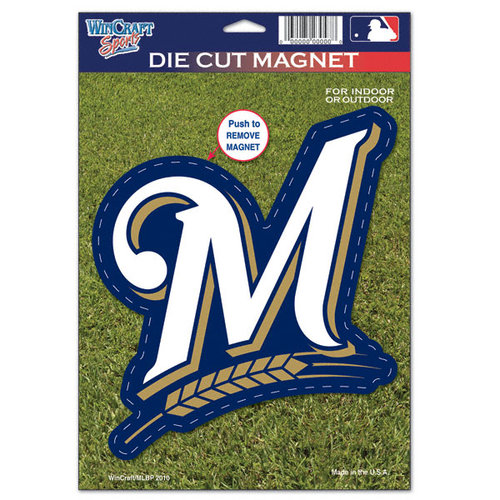 Milwaukee Brewers Die Cut Logo Magnet