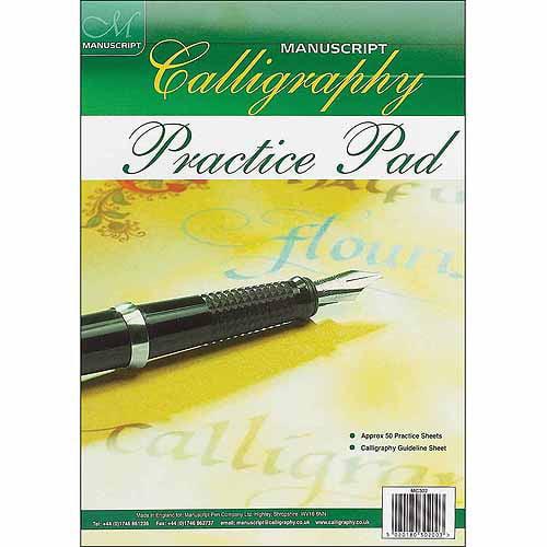 Manuscript Pen Manuscript Calligraphy Practice Pad, 50 Sheets
