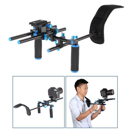 Aluminum Alloy Video Shoulder Mount Support Rig Stabilizer with 1/4