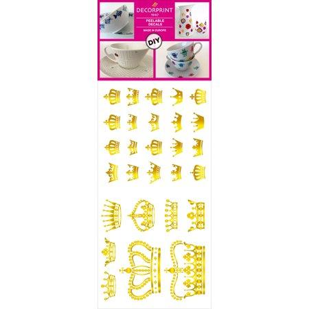 "Decorprint Peelable Decals 3.75""X7.75""-Gold Crown - image 1 de 1"