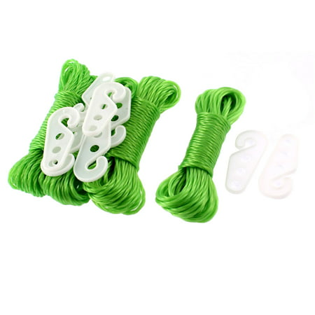 Unique Bargains 4 Pcs Outdoor Nylon Braided Hanging Laundry 8 Meters  Clothes Rope