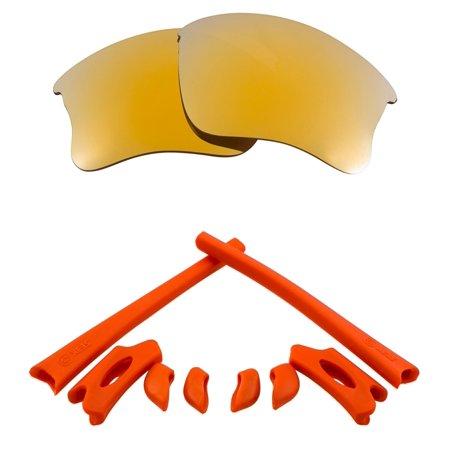 Lenses Kit Compatible with OAKLEY FLAK JACKET XLJ Polarized Gold & (Eye Jacket Lenses)