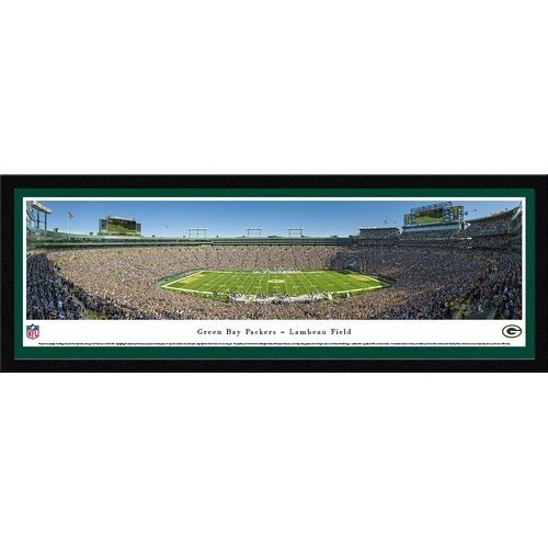 Blakeway Worldwide Panoramas, Inc NFL Green Bay Packers - 50 Yard Framed Photographic Print