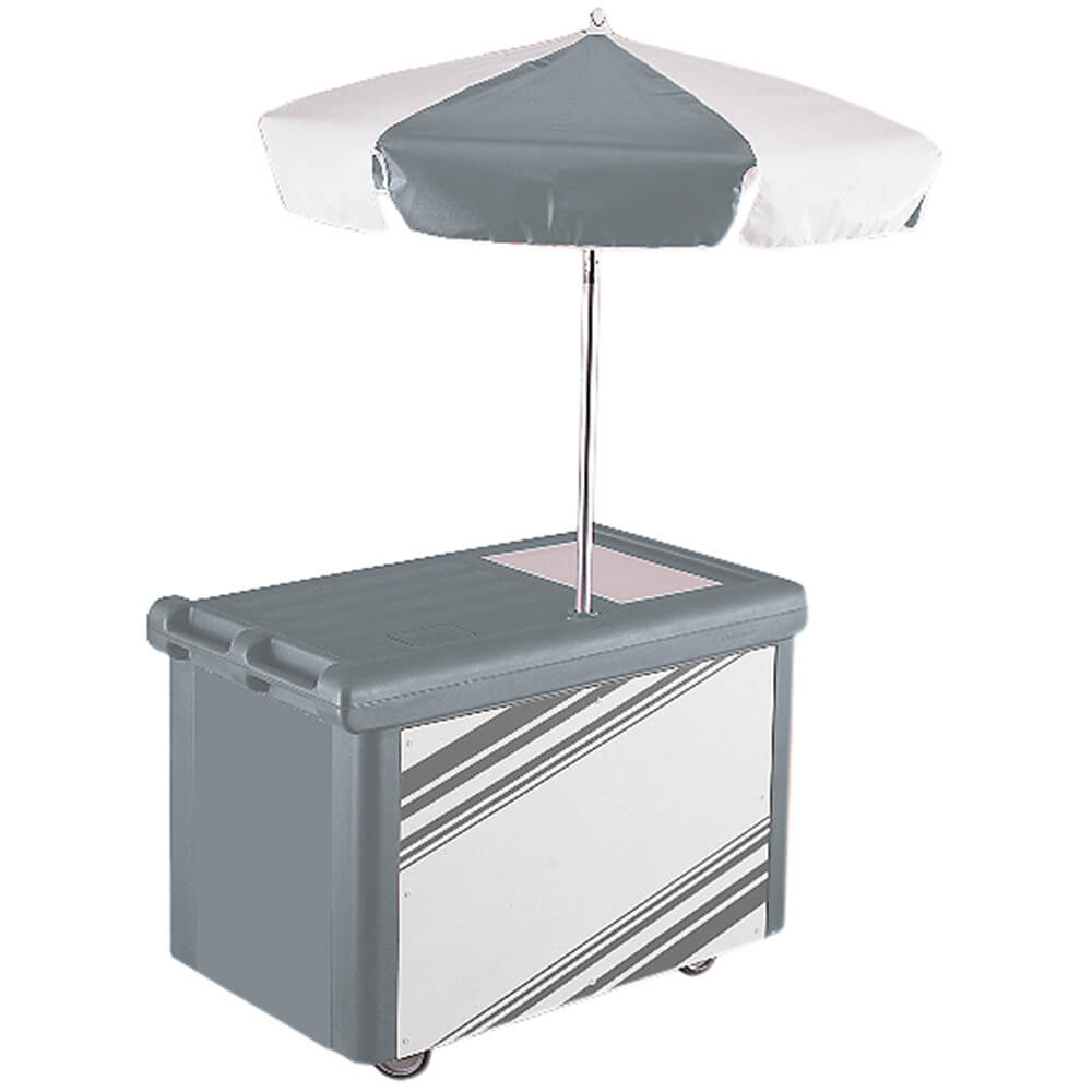 Cambro Camcruiser Vending Cart with Umbrella, Granite Gra...