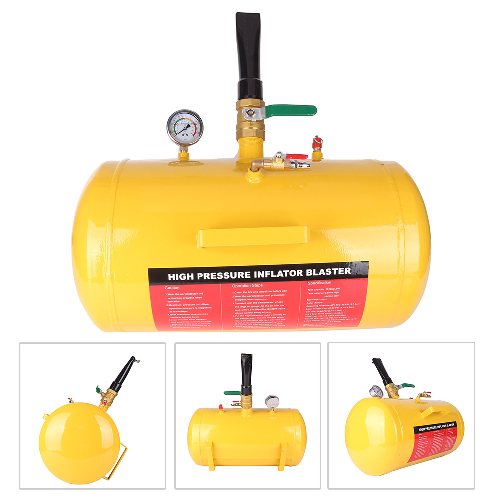 GZYF 10 Gallon Air Tire Bead Seater Blaster Tool Seating Tool Inflator Truck ATV 145PSI Yellow