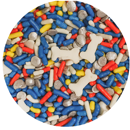 Dog Bones Desert Cupcake Icecream Cake Decoration Confetti Quin Pearly Sprinkes -6oz Jar