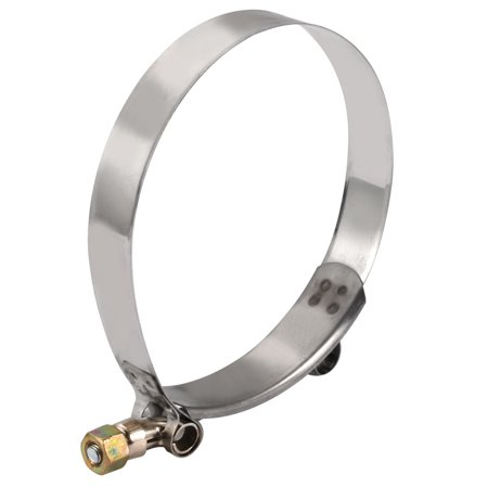 6PCS 97mm-105mm Stainless Steel T-Bolt Hose Clamp for Fuel Pump Filter Plumbing - image 1 of 4