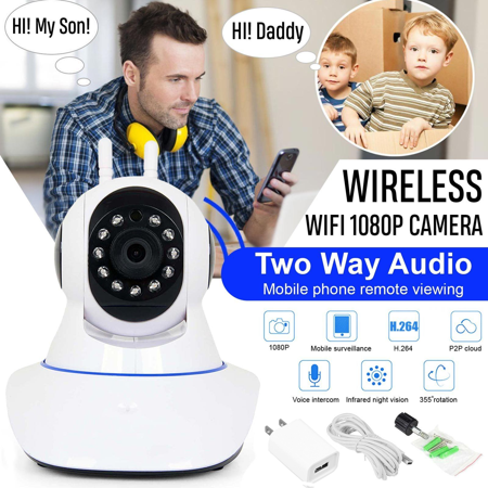 1080P HD Wireless Wifi IP Camera IR Security Webcam Baby Monitor CAM Pan Tilt (Web Cam To Babys)