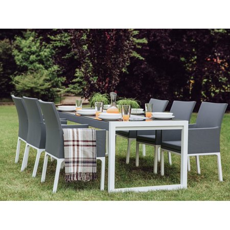 Beliani Patio Table And Chairs 6 Seater Dining Set Bacoli