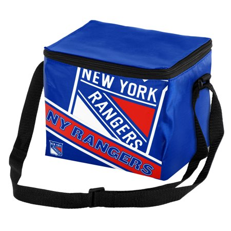 New York Rangers Big Logo Stripe 6 Pack Cooler - No Size Logo Small Cooler