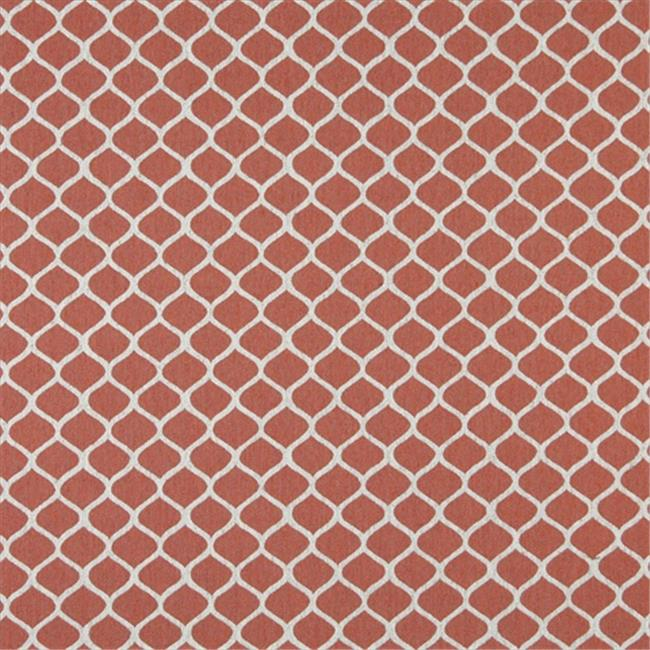 Designer Fabrics K0008C 54 in. Wide Persimmon And Off White, Modern, Geometric Designer Quality Upholstery Fabric