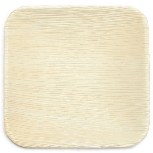 "Leaf & Fiber Square Palm Leaf Snack/Dessert Plates, 6"", 25 Count"