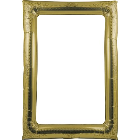 Club Pack of 6 Gold Antique Party Balloon Rectangular Picture Frame 6.1
