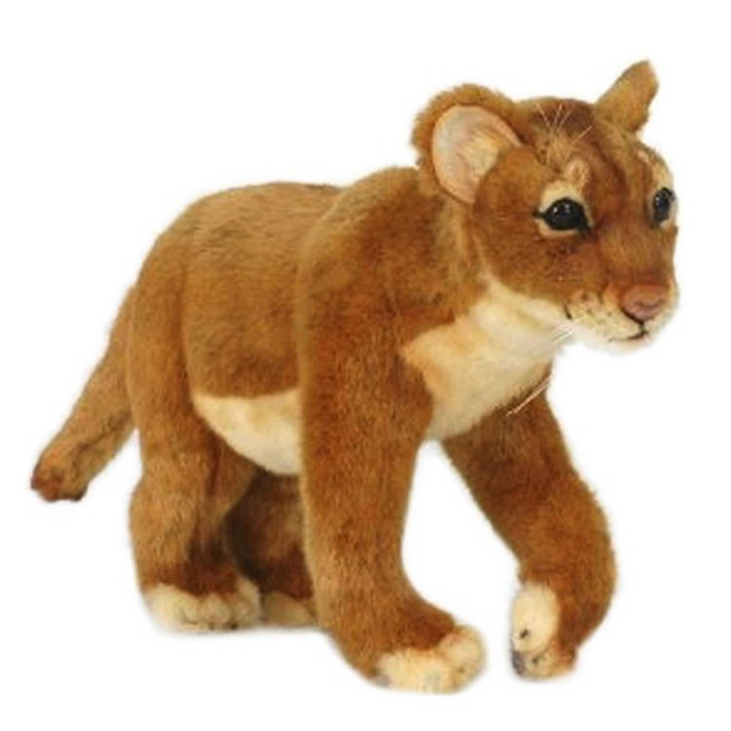 Hansa Standing Lion Cub Plush Toy by Overstock