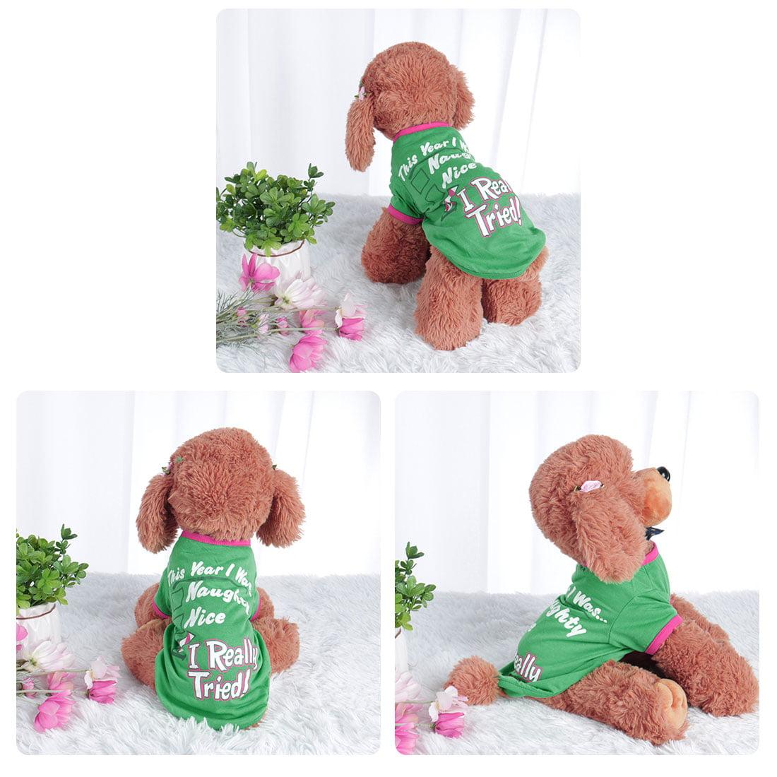 Dog T Shirt Puppy Small Pet Sweatshirt Tops Clothes Apparel Vest Costume #2, L - image 1 of 7