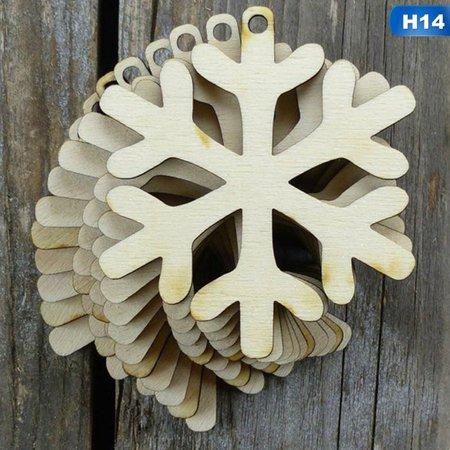 AkoaDa 10Pcs Wooden Snowman Pendant Christmas Tree Hanging Ornaments Xmas Decorations For Party Wedding Office School Jewelry Ornament Halloween ()