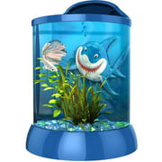 Aqua Terra 1 Gallon with 3D Shark Background, Blue