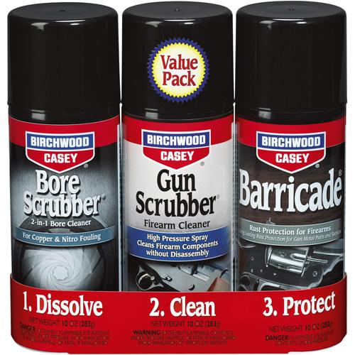 BW Casey 1 2 3 Gun Scrubber Bore Scrubber and Barricade Kit by Birchwood Casey