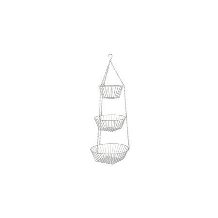Chrome 3-Tier Hanging Basket