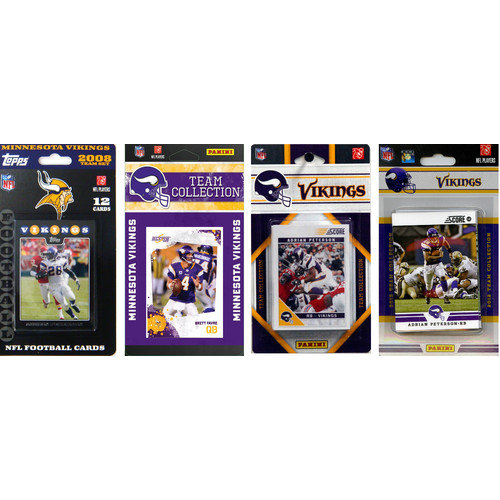 C & I Collectibles NFL Different Licensed Team Trading Cards (Set of 4)